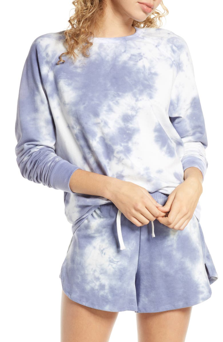 PROJECT SOCIAL T By Chance Sweatshirt, Main, color, LIGHT INDIGO CRYSTAL WASH