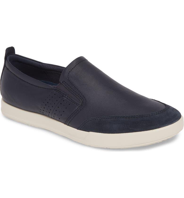 ECCO Collin 2.0 Slip-On Sneaker, Main, color, NAVY/ NIGHT SKY LEATHER