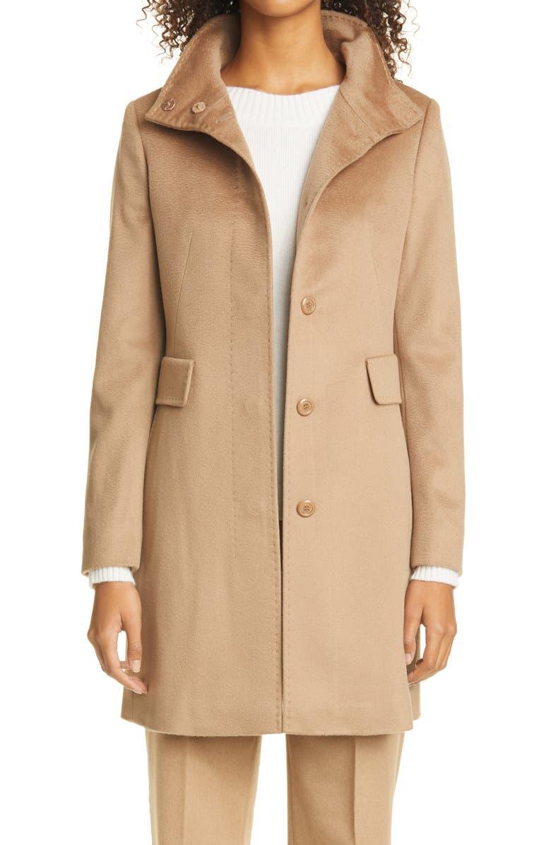 MAX MARA Agnese Wool Coat, Main, color, CAMEL