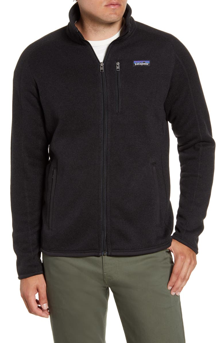 PATAGONIA Better Sweater<sup>®</sup> Zip Jacket, Main, color, BLACK