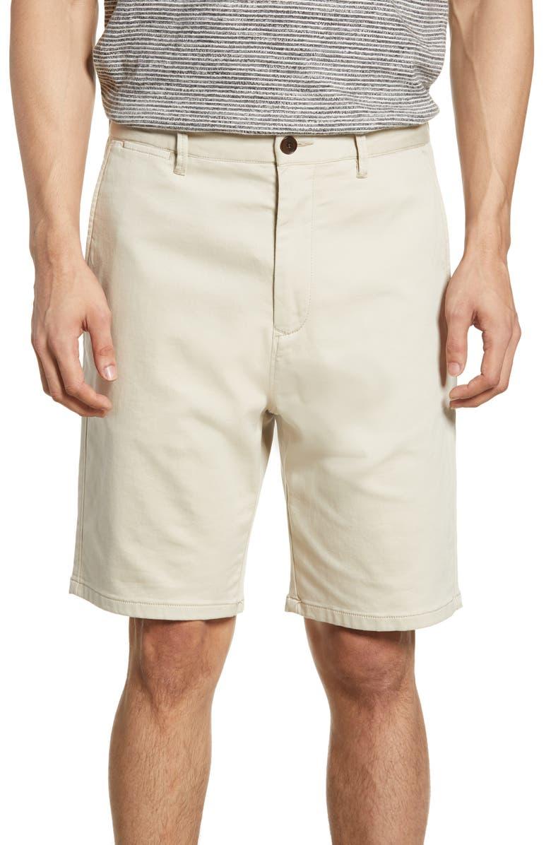 RODD & GUNN Royce Hill Slim Fit Shorts, Main, color, NATURAL