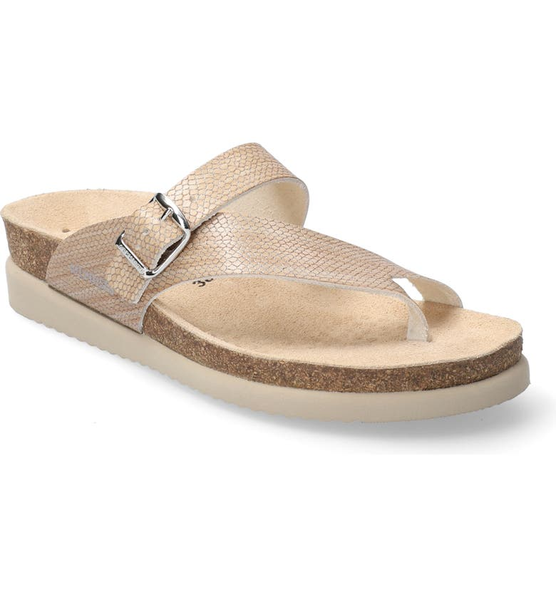MEPHISTO 'Helen' Sandal, Main, color, SAND REPTILE PRINT LEATHER