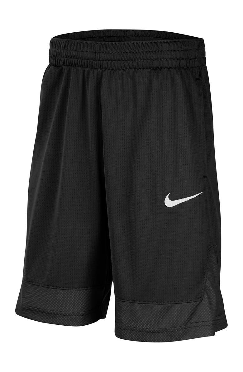 NIKE Core Basketball Shorts, Main, color, BLACK/WHITE/BLACK