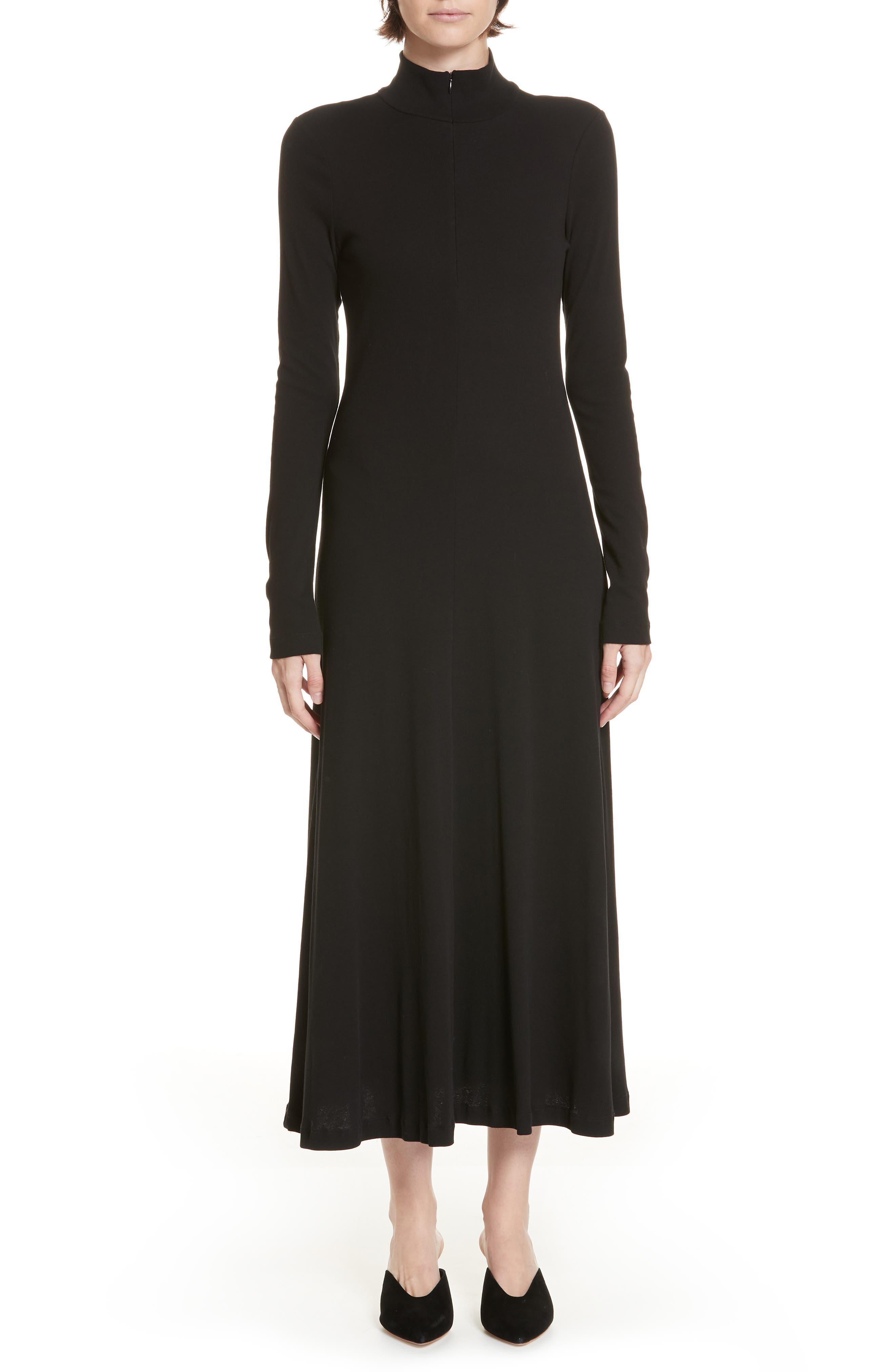 Rosetta Getty Turtleneck Jersey Dress
