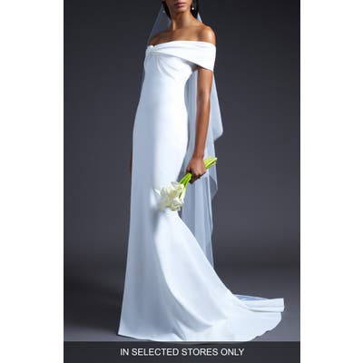 Cushnie Knotted Off The Shoulder Wedding Dress