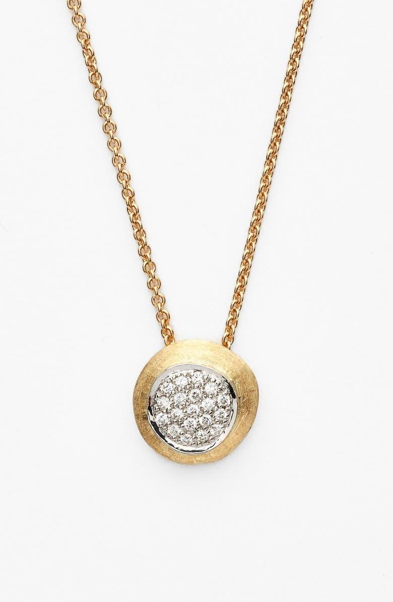MARCO BICEGO 'Delicati - Jaipur' Diamond Pendant Necklace, Main, color, YELLOW GOLD