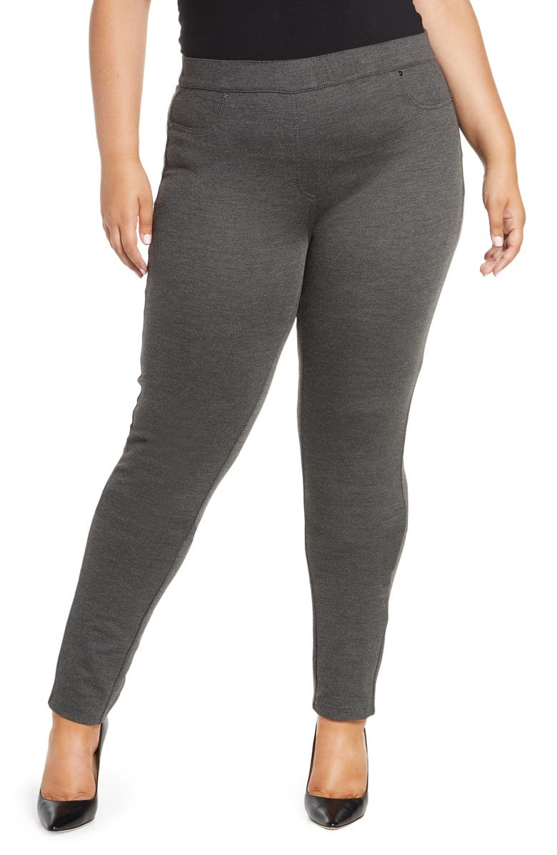 MARINA RINALDI Oblungo Stretch Jersey Slim Pants, Main, color, DARK GREY