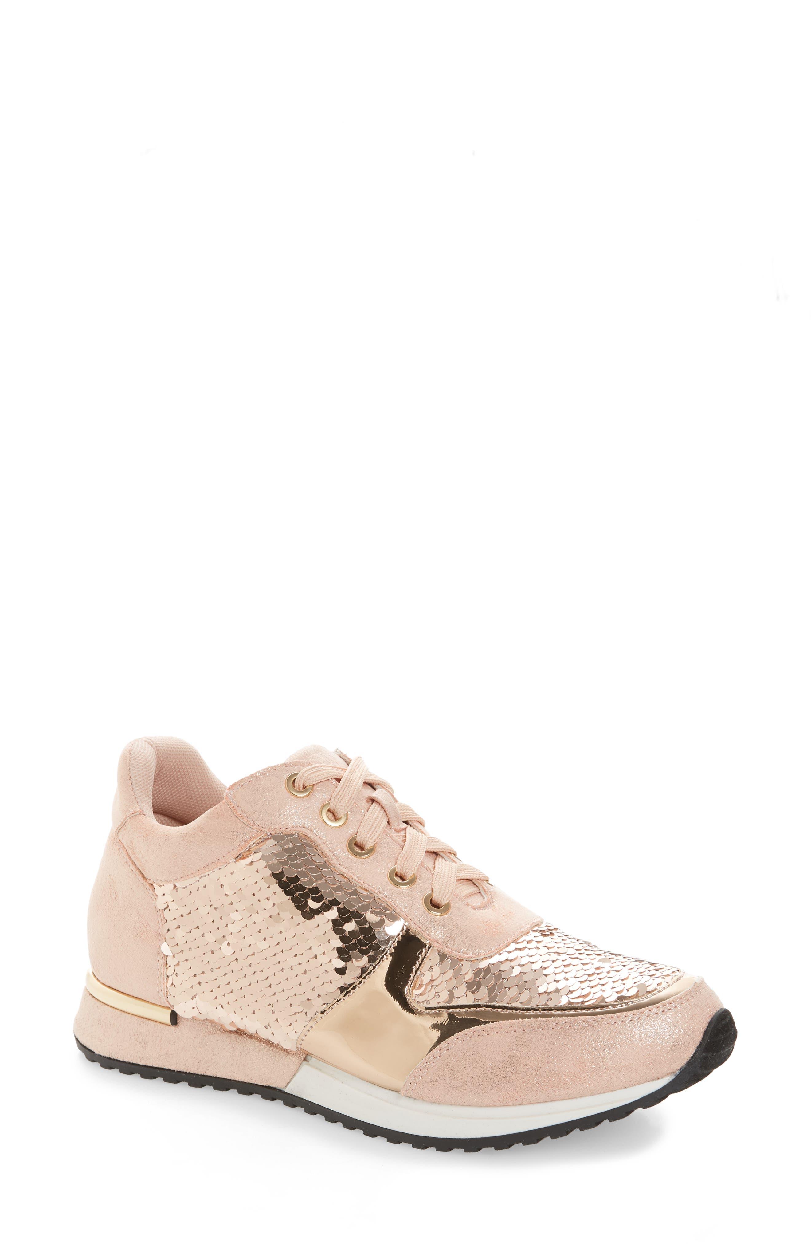 Lauren Lorraine Axel Embellished Sneaker, Pink