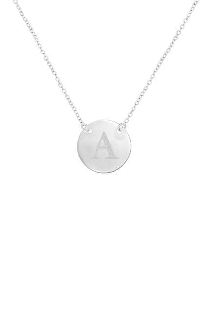 Image of Savvy Cie Stainless Steel Initial Pendant Necklace - Multiple Initials Available