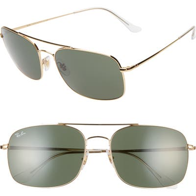 Ray-Ban 60Mm Navigator Sunglasses - Gold