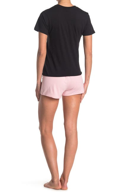 Image of COZY ROZY Hugs N Kisses T-Shirt & Shorts 2-Piece Pajama Set