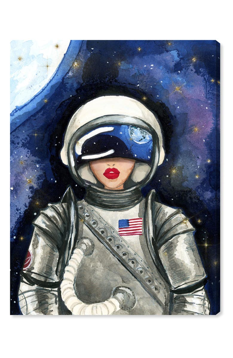 OLIVER GAL Astronaut Canvas Wall Art, Main, color, PURPLE
