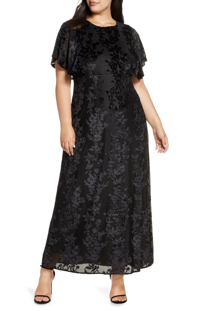 KIYONNA Parisian Dream Maxi Dress, Main, color, ONYX