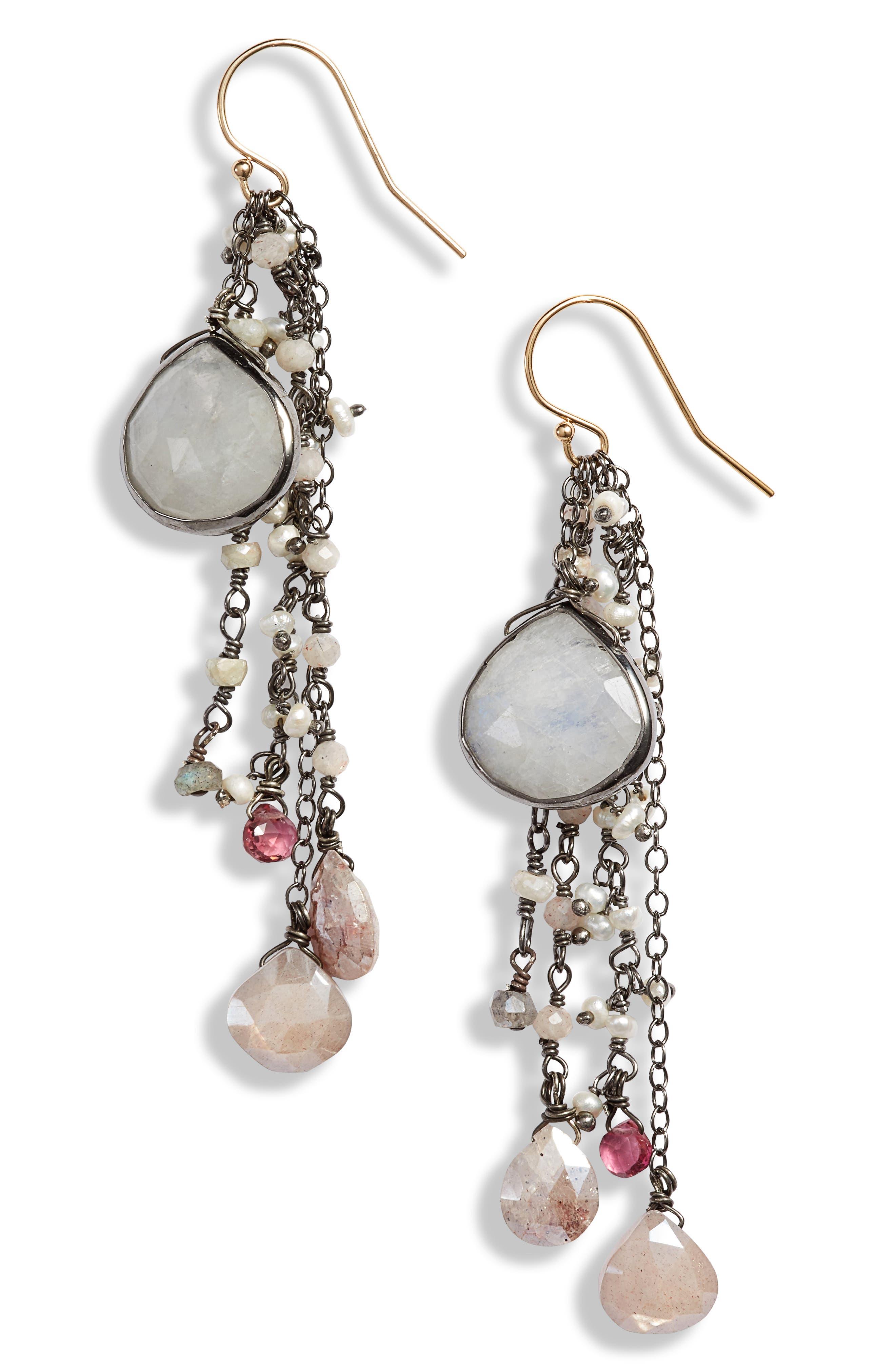 Semiprecious Stone Drop Earrings
