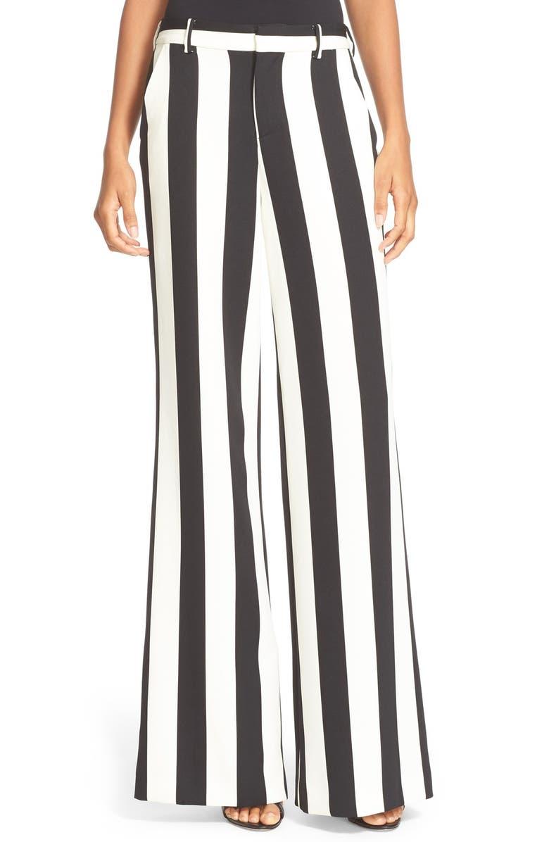 ALICE + OLIVIA Paulette High Waist Flared Pants, Main, color, 009