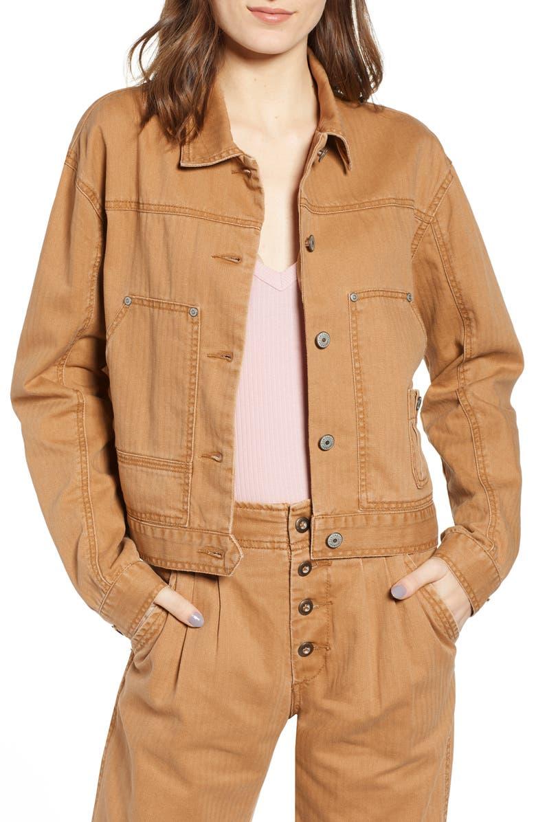 UNIONBAY Nattie Workwear Jacket, Main, color, WORKWEAR KHAKI