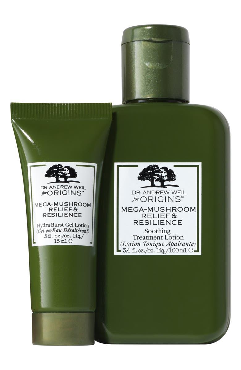 ORIGINS Super Shrooms Mega-Mushroom Skin Relief & Resilience Duo, Main, color, 000