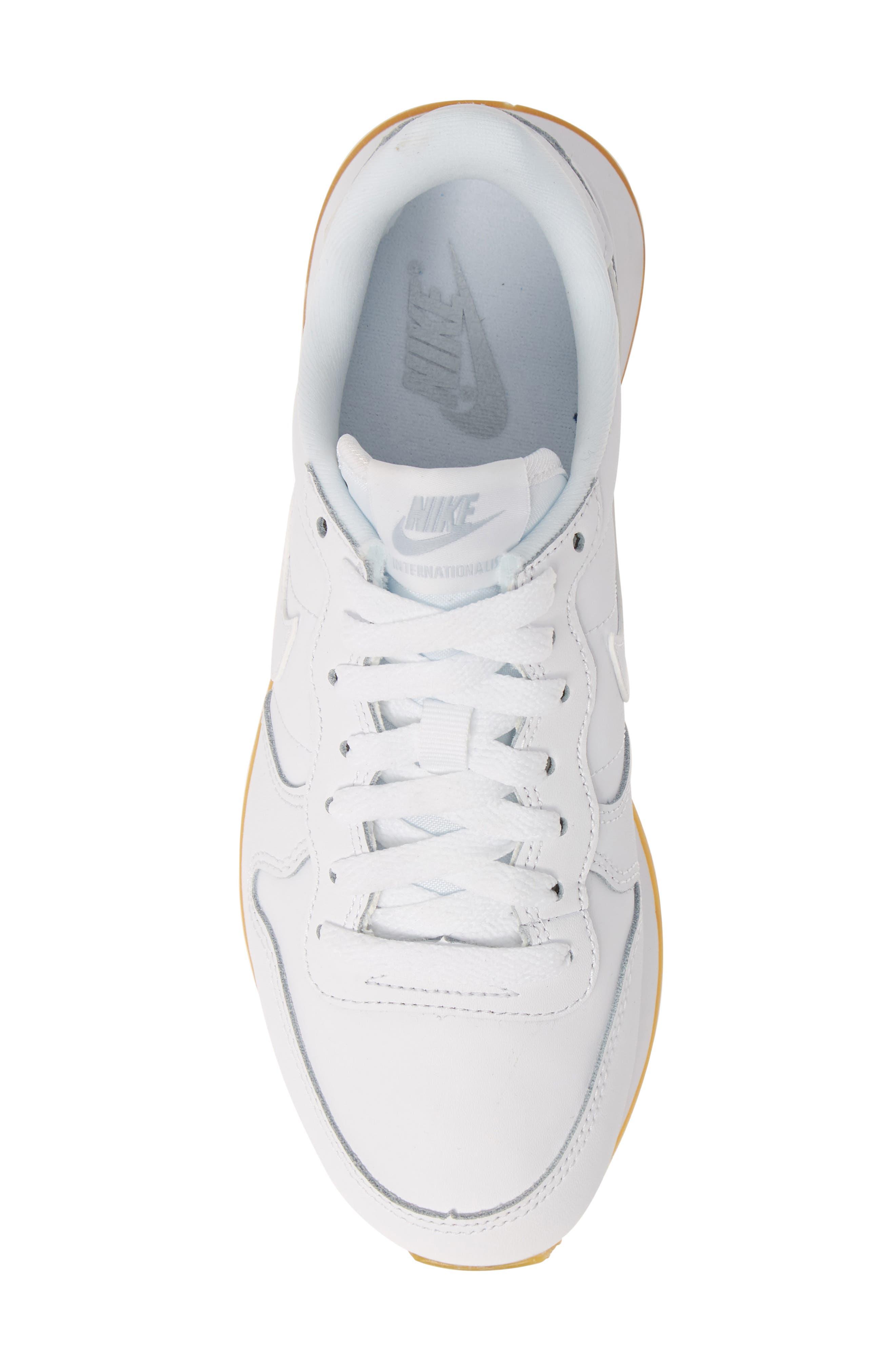 ,                             'Internationalist' Sneaker,                             Alternate thumbnail 5, color,                             WHITE/ WHITE/ GUM LIGHT BROWN