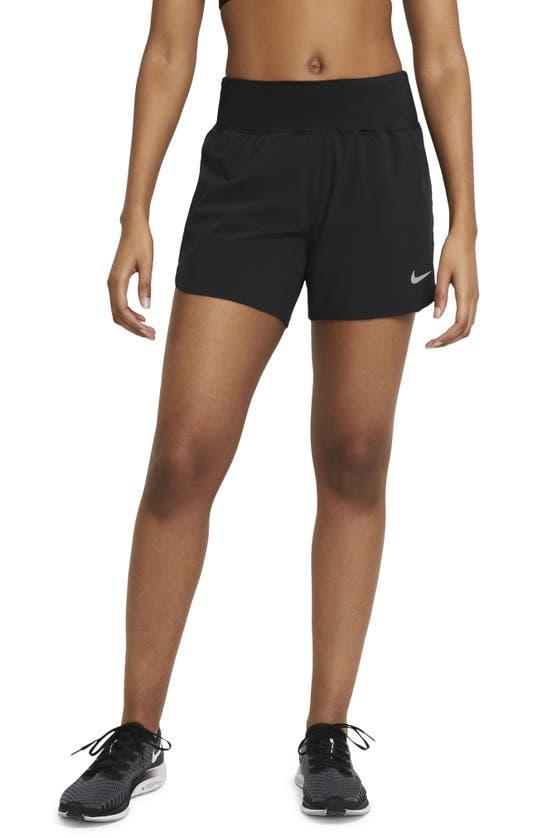 Nike Eclipse Women's Running Shorts In Black/ Reflective Silver