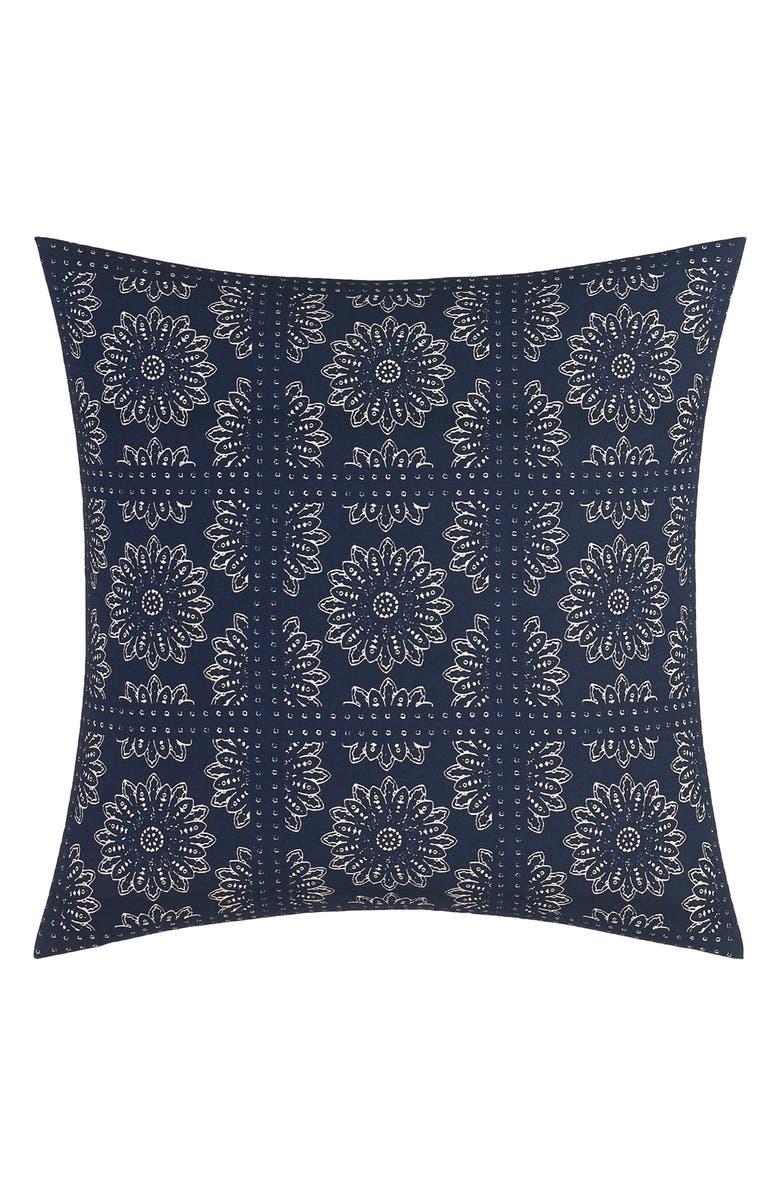 NAUTICA Lockridge Bandana Pillow, Main, color, DARK NAVY