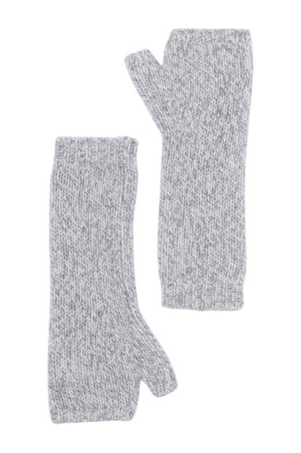 Image of Theory Marled Cut Off Cashmere Mittens