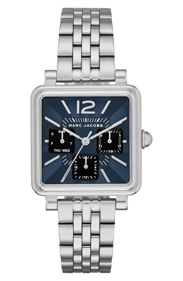 MARC JACOBS Square Vic Bracelet Watch, 30mm, Main, color, 040