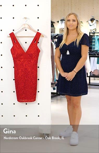 Double Strap Lace Sheath Dress, sales video thumbnail
