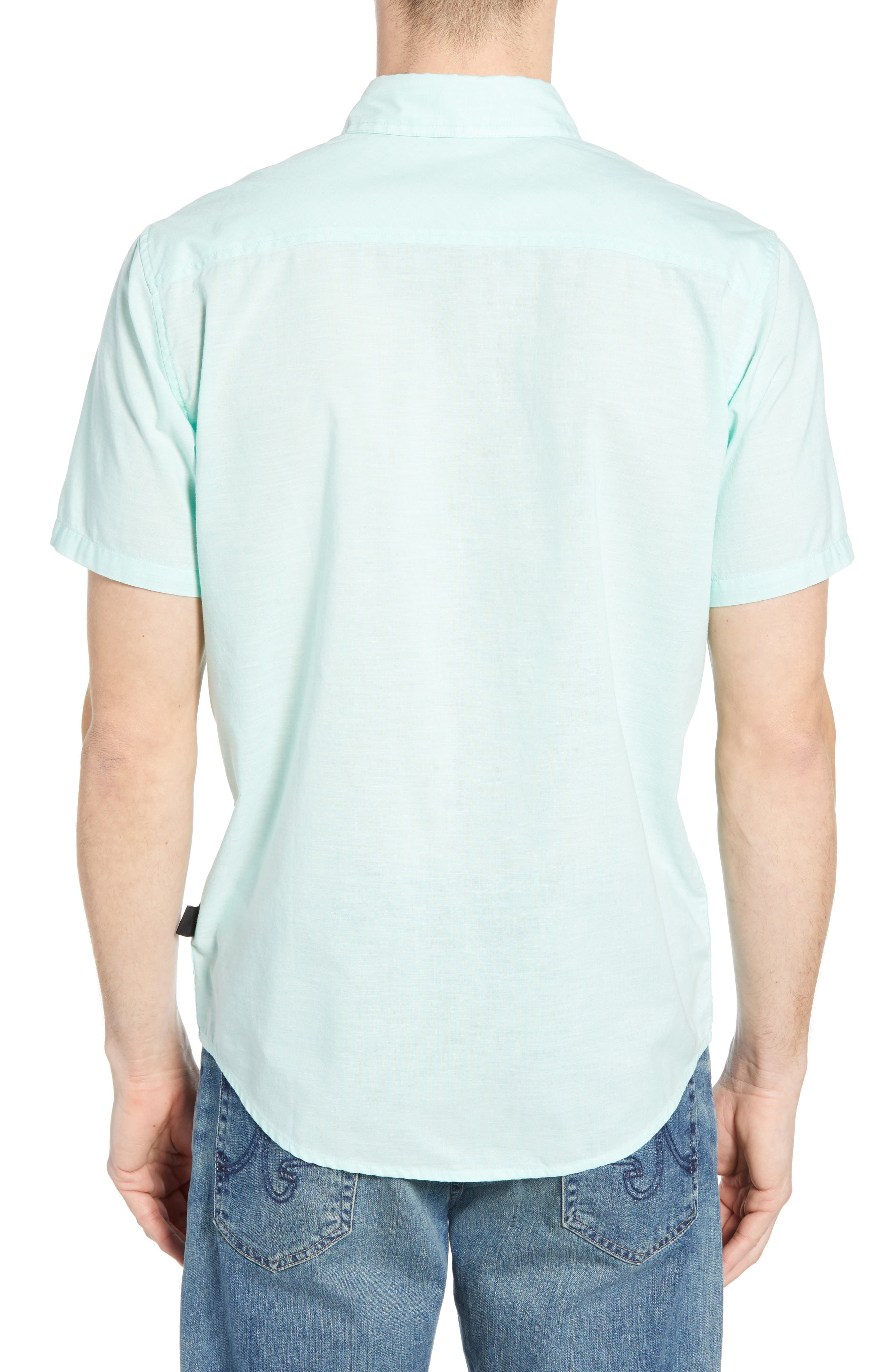 ,                             Bluffside Regular Fit Shirt,                             Alternate thumbnail 3, color,                             CHAMBRAY VJOSA GREEN