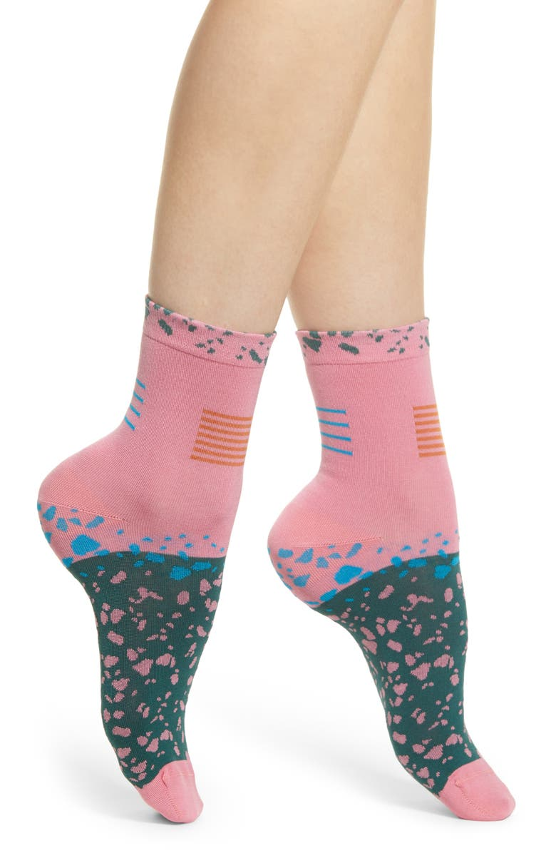 HYSTERIA BY HAPPY SOCKS Ruby Ankle Socks, Main, color, 660