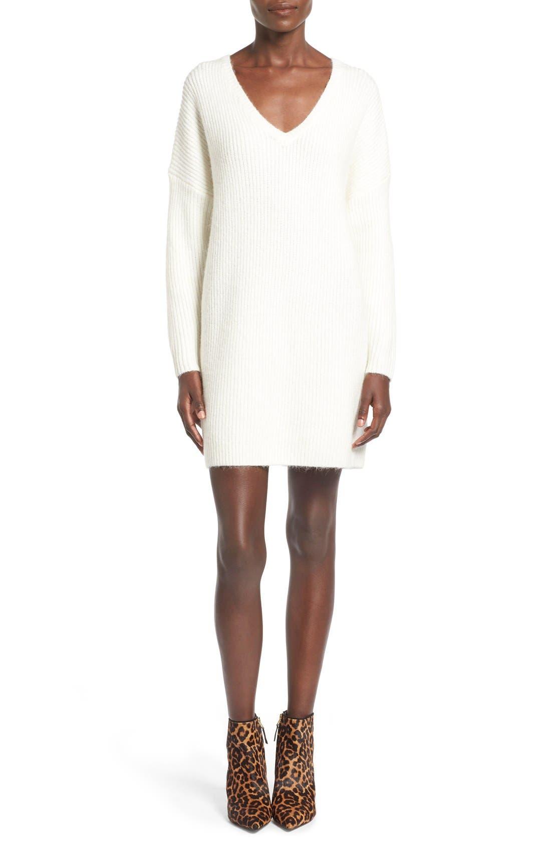 ,                             V-Neck Sweater Minidress,                             Main thumbnail 7, color,                             900