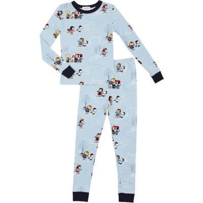 Bedhead Pajamas Peanuts On Ice Fitted Two-Piece Pajamas