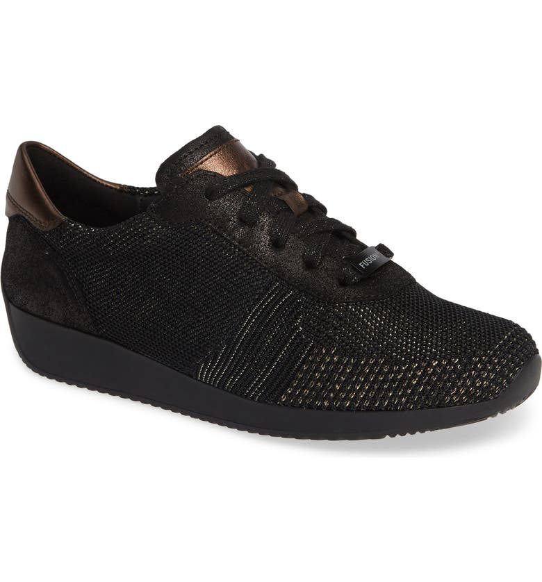 ARA Lilly Sneaker, Main, color, BLACK/ BLACK LEATHER