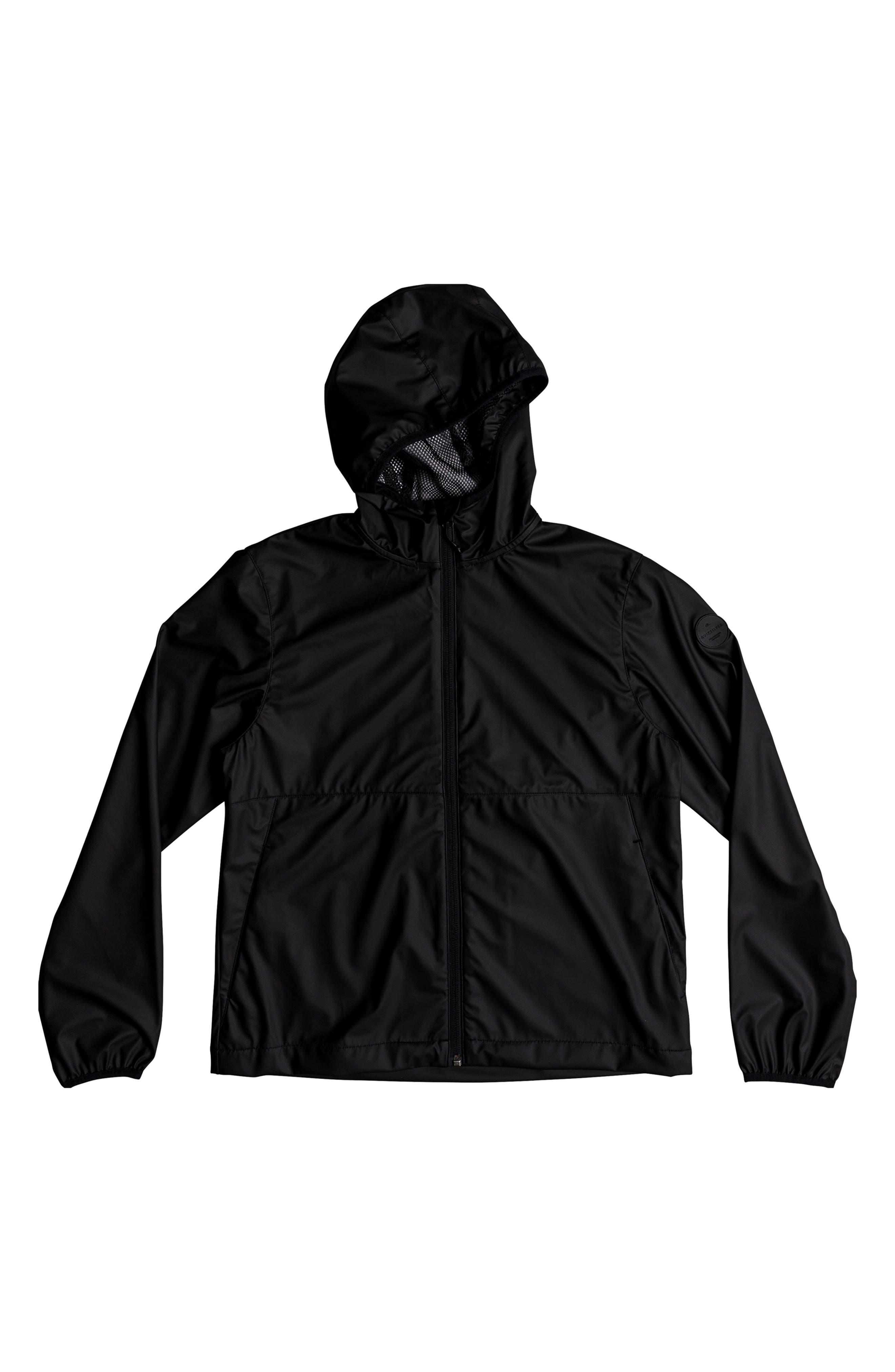 Kamakura Rains Hooded Rain Jacket, Main, color, BLACK
