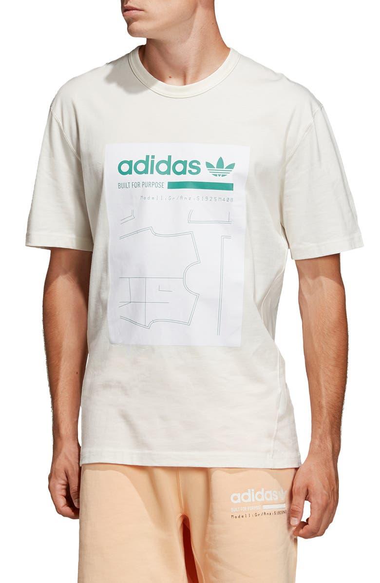 ADIDAS ORIGINALS Kaval Graphic T-Shirt, Main, color, CLOUD WHITE
