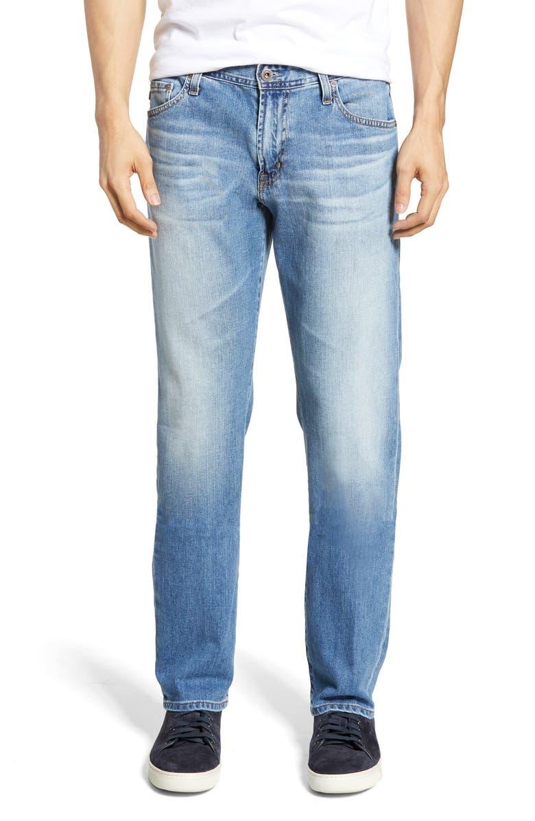 AG Graduate Slim Straight Leg Jeans, Main, color, FALLING STAR