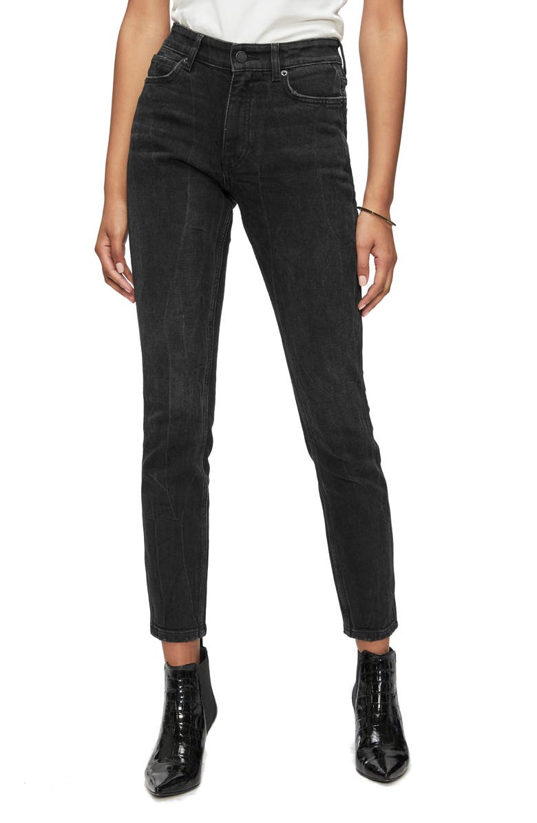 ANINE BING Jagger High Waist Ankle Jeans, Main, color, 001