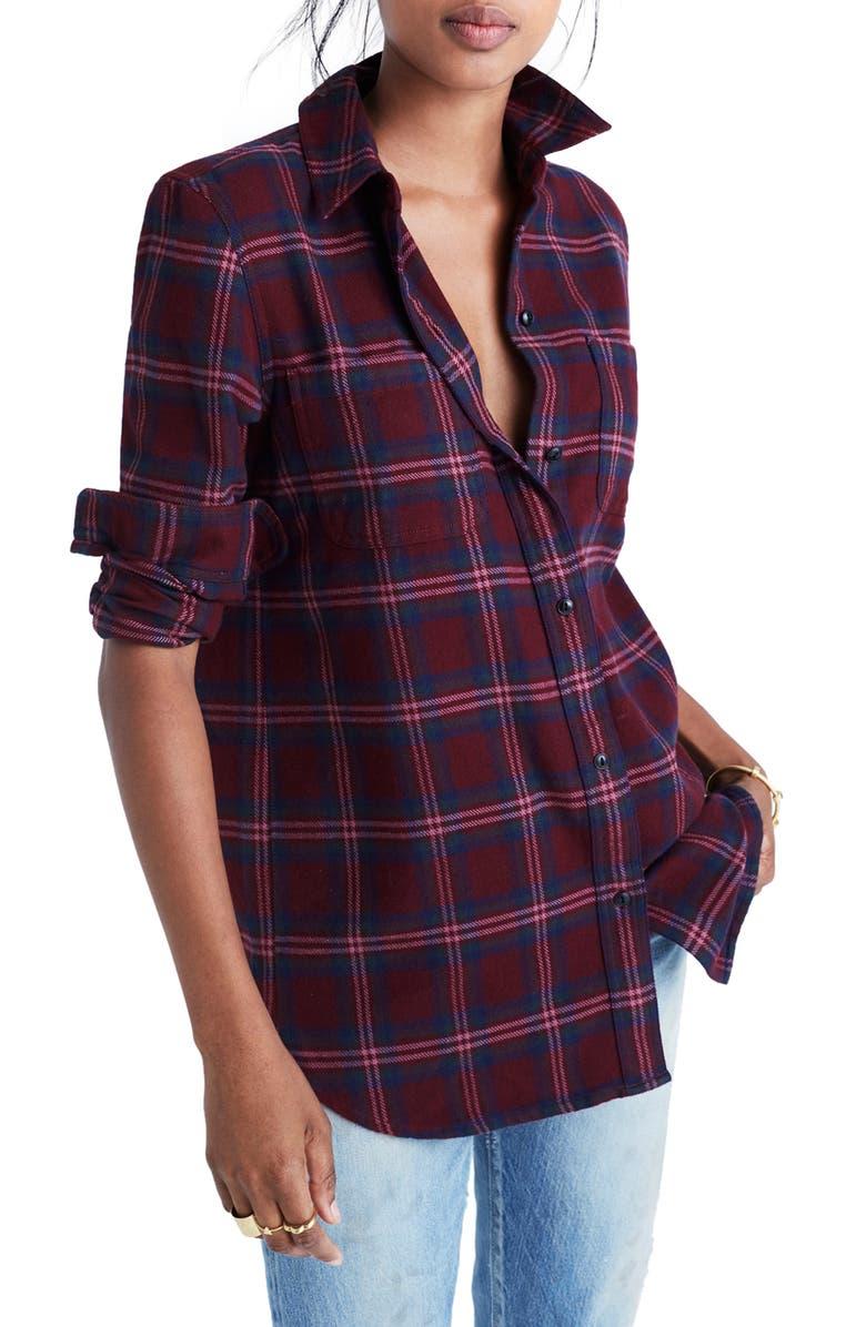 MADEWELL Shrunken Boyfriend Shirt, Main, color, 930