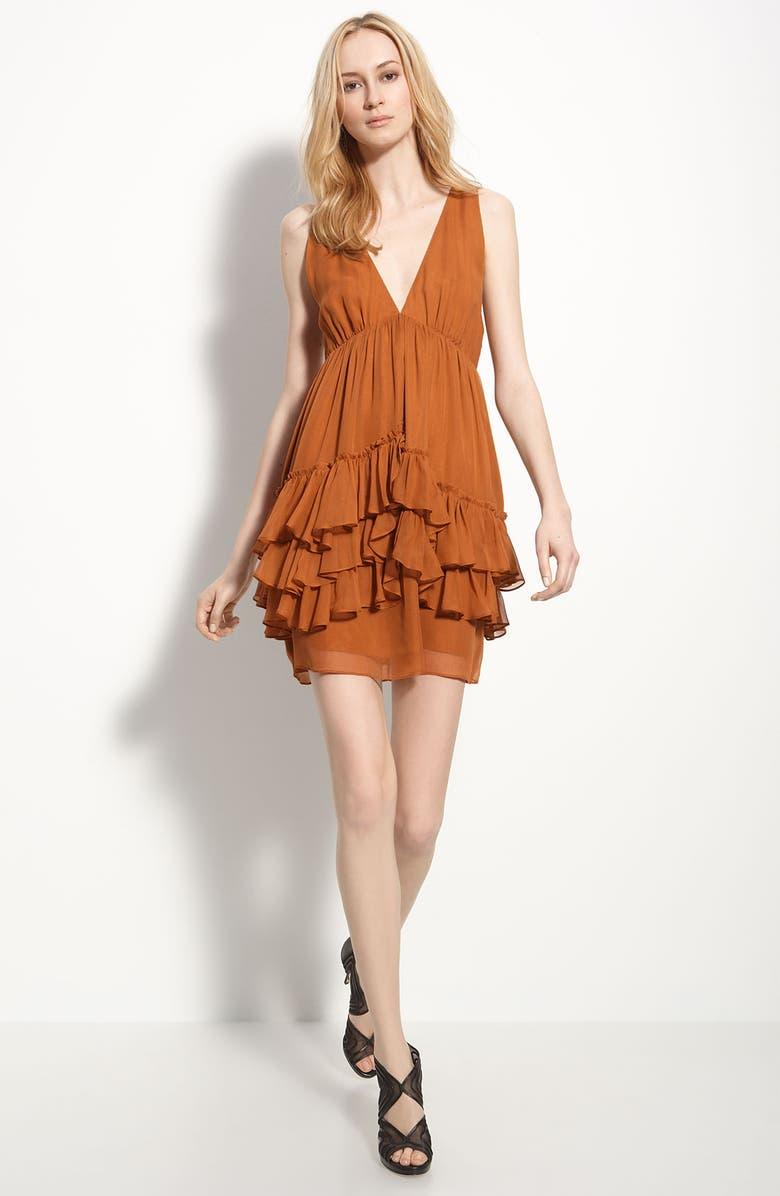 ELIZABETH AND JAMES 'Rebecca' Tiered Chiffon Dress, Main, color, 230