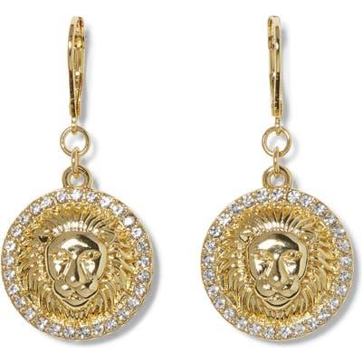 Vince Camuto Lion Head Drop Earrings