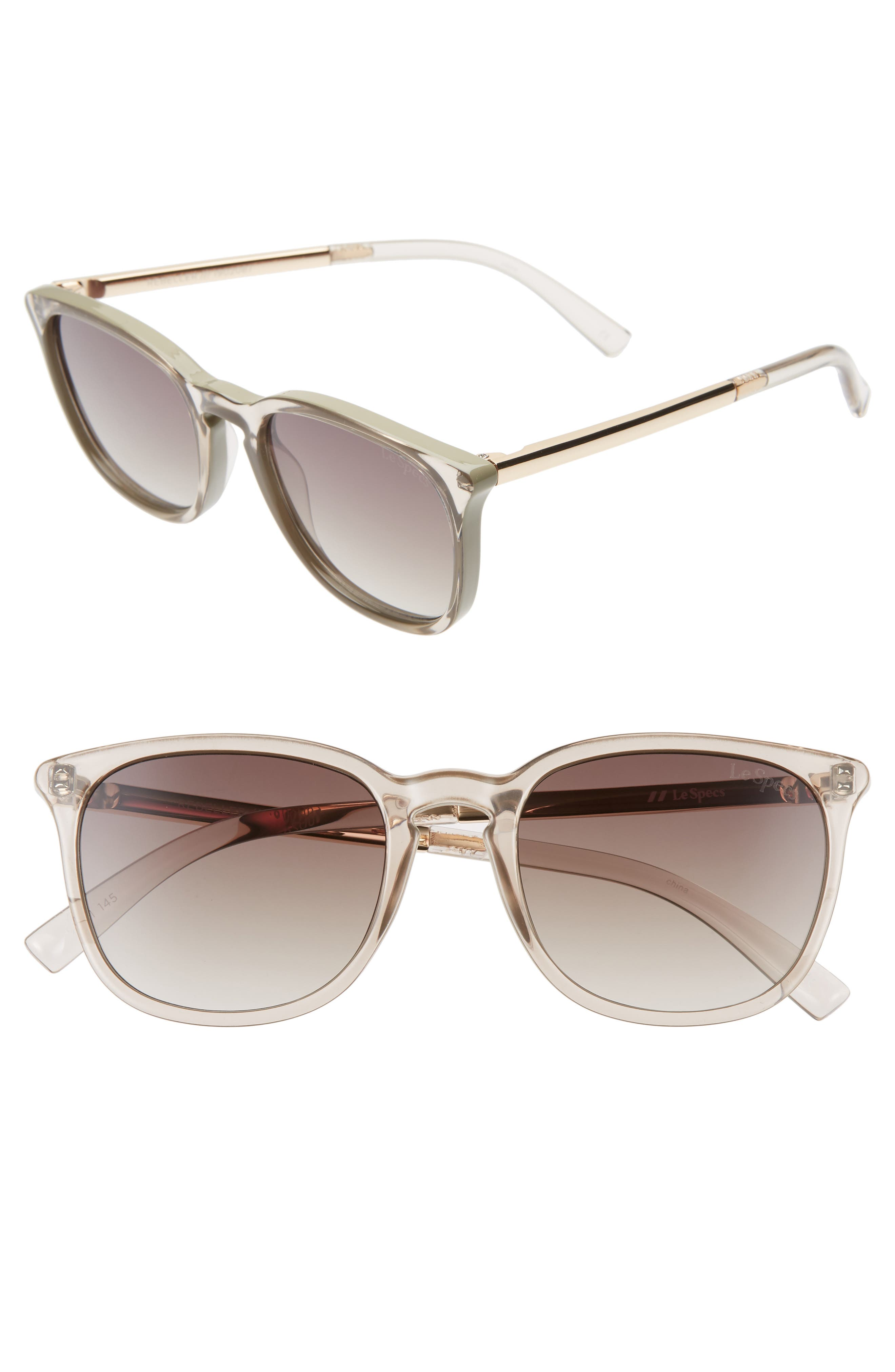 Le Specs Rebeller 5m Round Sunglasses - Stone/ Khaki Gradient