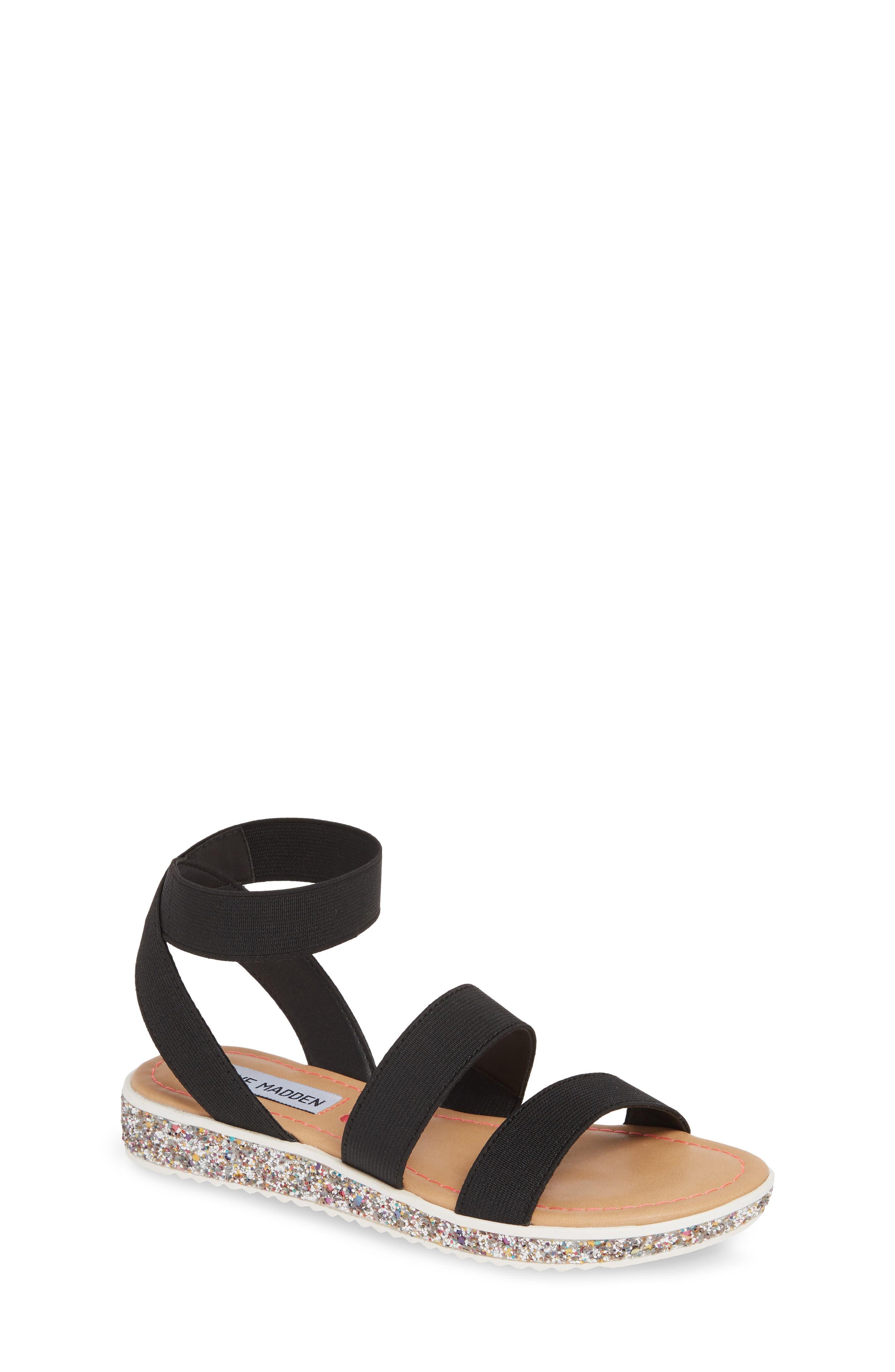 JKIMMA Glitter Sandal, Main, color, BLACK