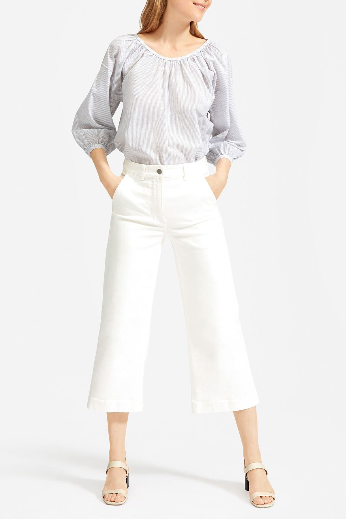 Image of EVERLANE The Ruched Air Blouse
