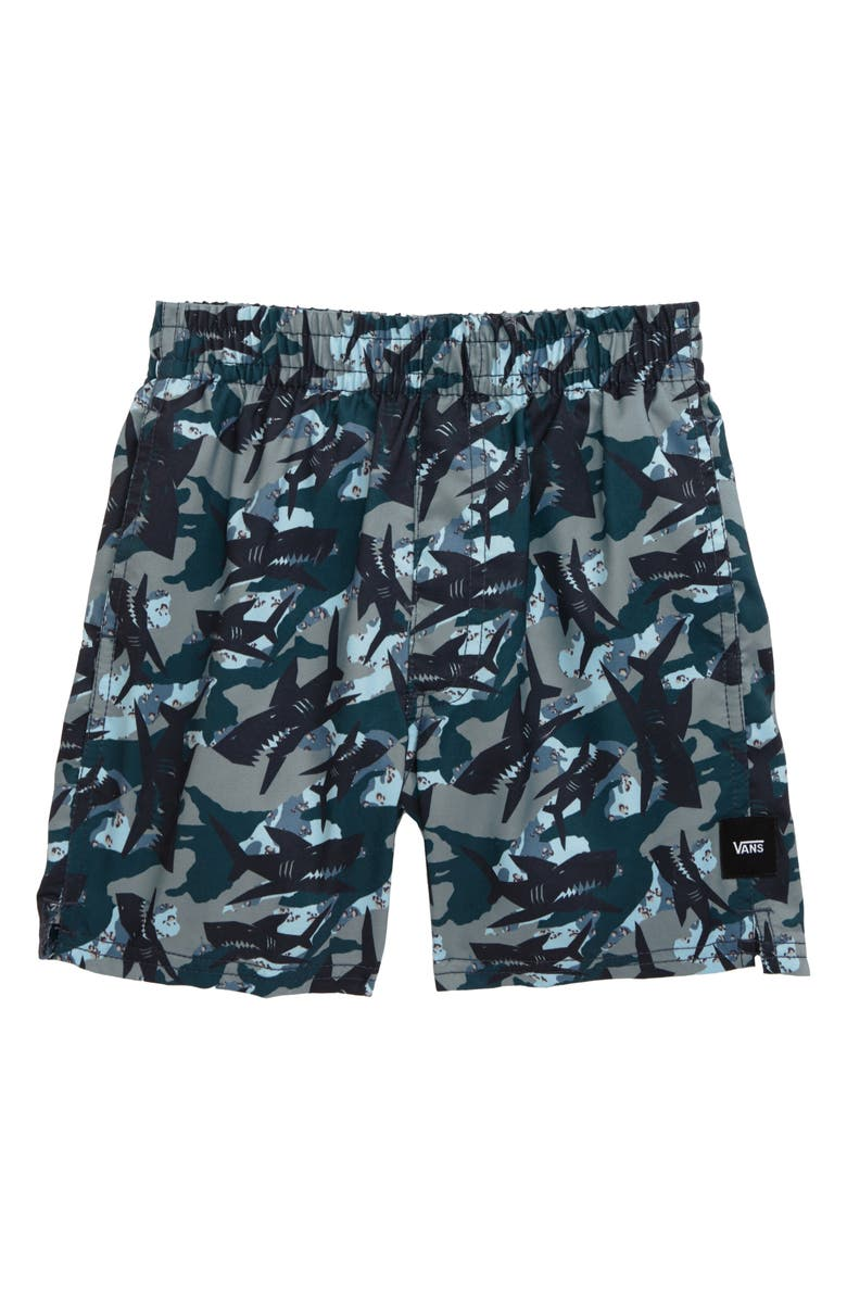 VANS Shark Camo Volley Hybrid Shorts, Main, color, SHARK CAMO