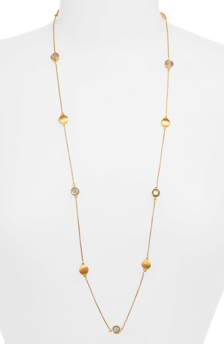 DEAN DAVIDSON Signature Charm Necklace, Main, color, LABRADORITE/ GOLD