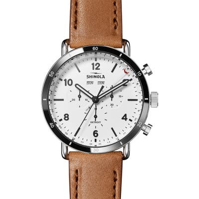 Shinola The Canfield Leather Strap Watch, 45mm