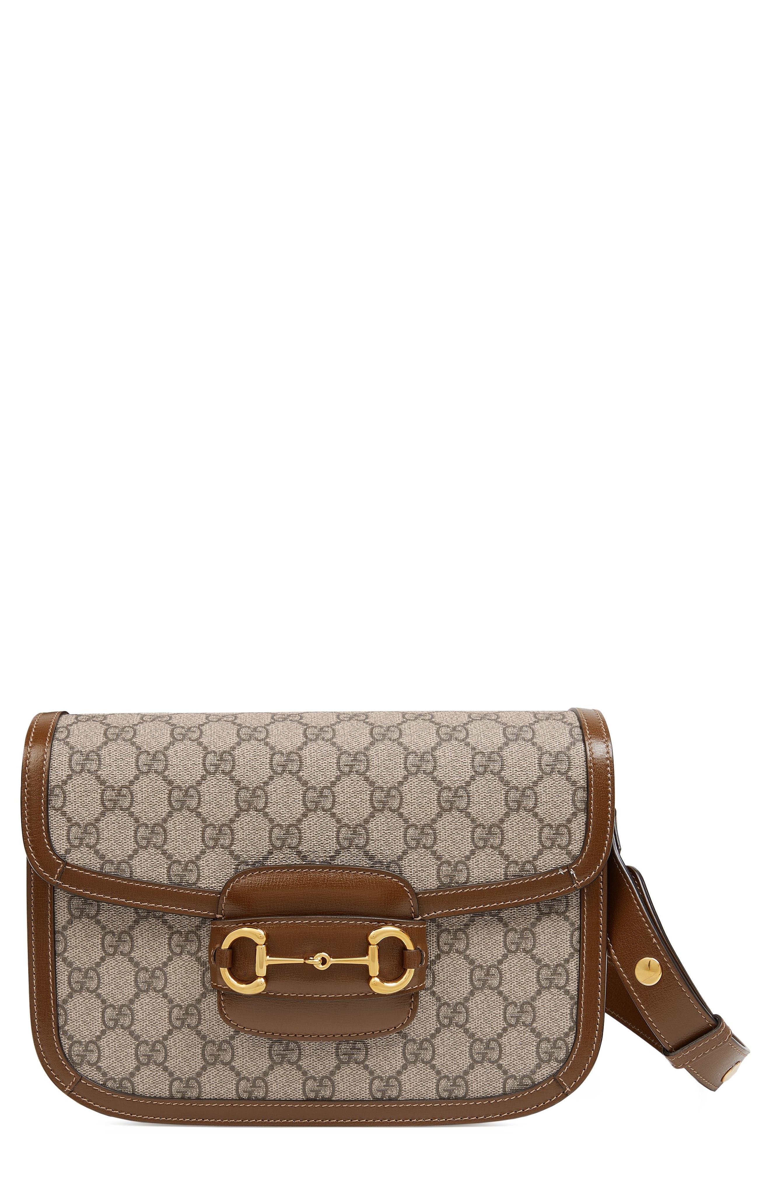 Gucci Shoulder 1955 Horsebit GG Supreme Canvas Shoulder Bag