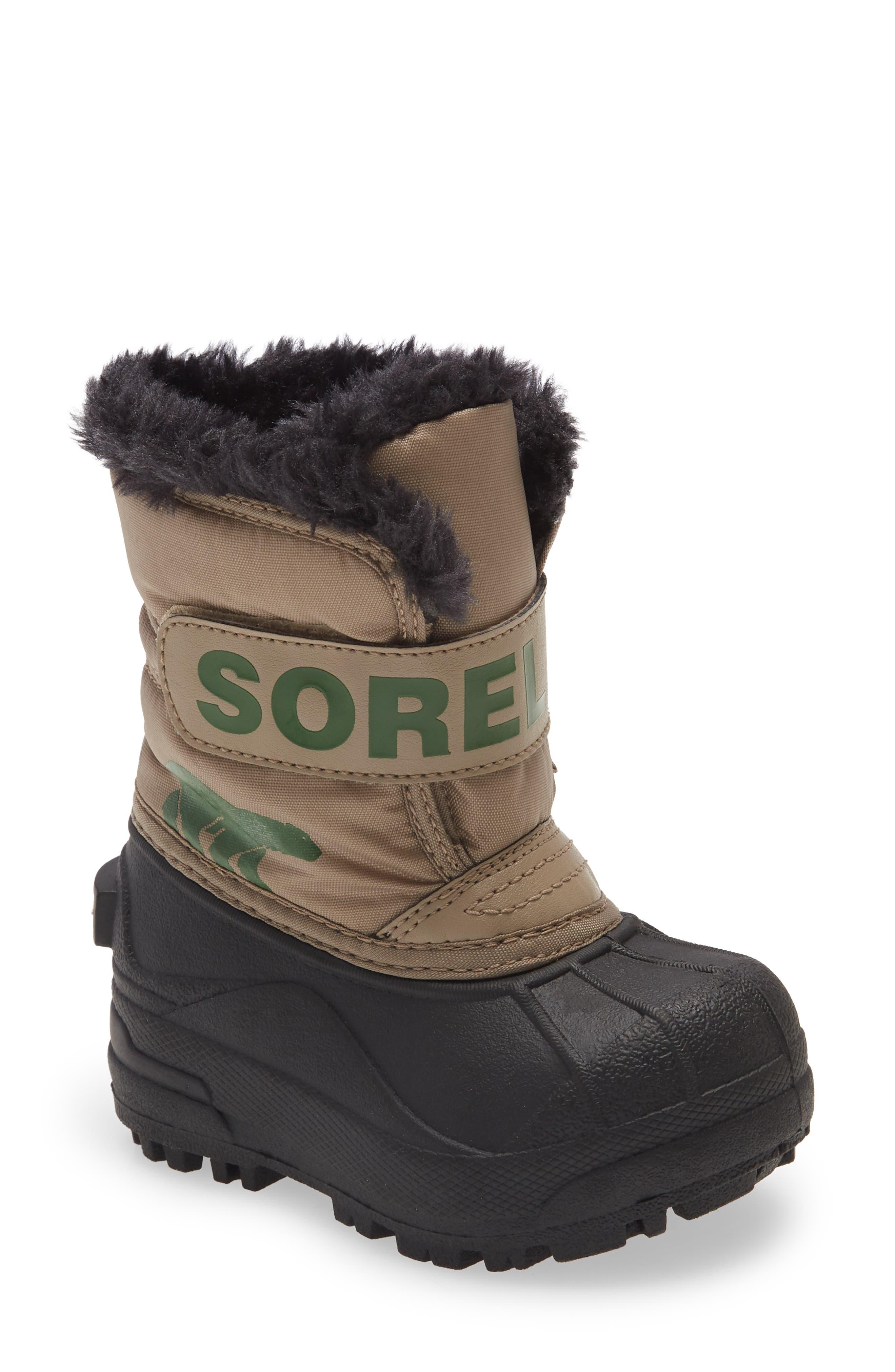 SOREL Snow Commander Insulated Waterproof Boot (Baby & Walker) | Nordstrom