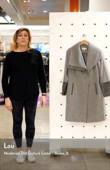 Wool and Faux Leather Coat, sales video thumbnail