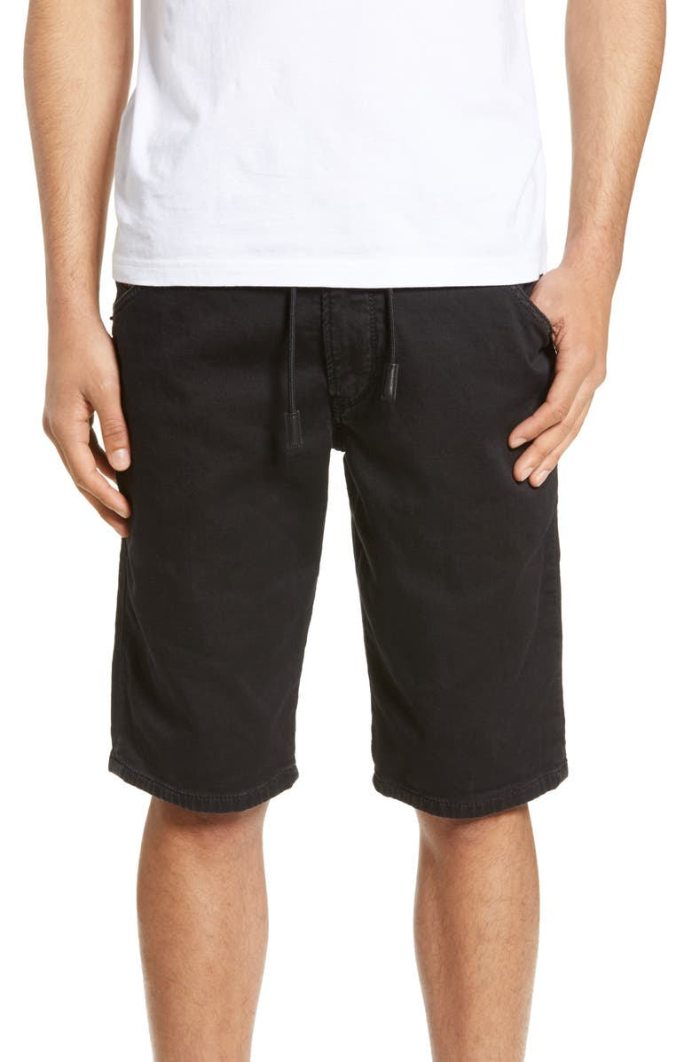 DIESEL<SUP>®</SUP> Krooshort Stretch Cotton Blend Jogger Shorts, Main, color, 001