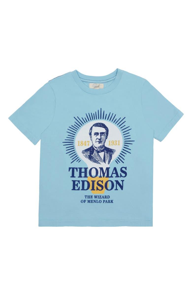 PEEK AREN'T YOU CURIOUS Thomas Edison T-Shirt, Main, color, 408